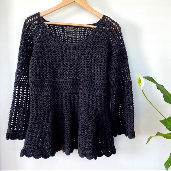 Pure Handknit Sweaters - Beautiful open knit 💯 cotton sweater